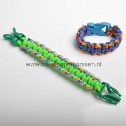 zelfmaakset cobra armband...