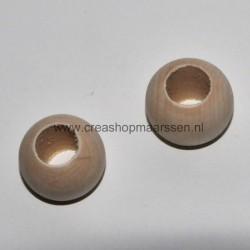 houten kraal 20 mm (4 stuks)