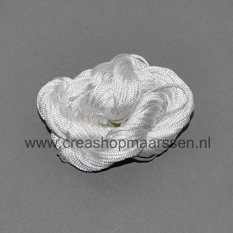 kleine kraal (zilverkleurig)