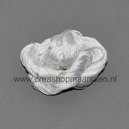 kleine acryl kraal (zilverkleurig)